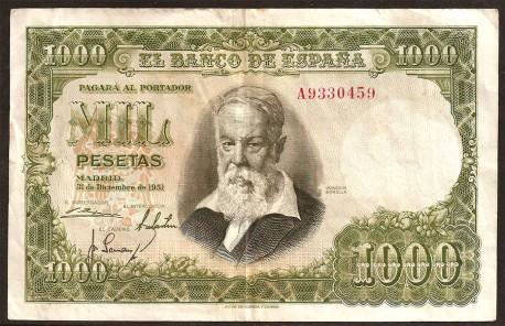 1000 Pesetas 1951 Joaquín Sorolla MBC-