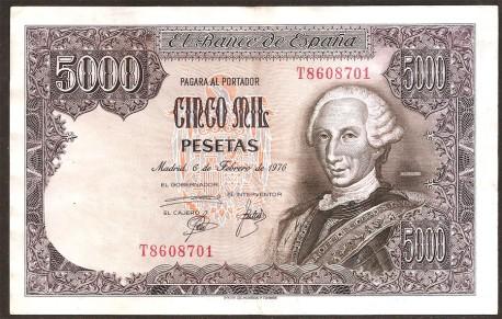 5000 Pesetas 1976 Carlos III. MBC