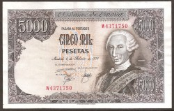 5000 Pesetas 1976 Carlos III. MBC+