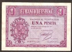 1 Peseta 1937 Burgos. MBC+
