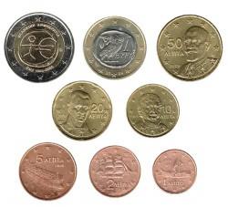 Grecia 2009 Tira 8 valores (2 euros conmemorativos) S/C
