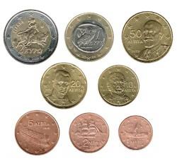 Grecia 2009 Tira 8 valores S/C