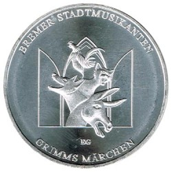 Alemania 2017 20 Euros Plata Ceca J. Músicos de Bremen S/C