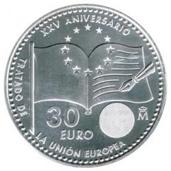 España 2017 30 Euros Plata 25 Aniv. del Tratado de la UE S/C