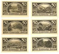 Suderode, Bad 6 de 50 Pfennig (13-05-1.921) KL 1261 Lote 2 de 3 S/C-