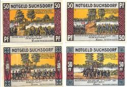 Suchsdorf 4 de 50 Pfennig (1,2,3 y 4) (31-8-1.921) KL 1260 Lote 2 de 2 S/C-