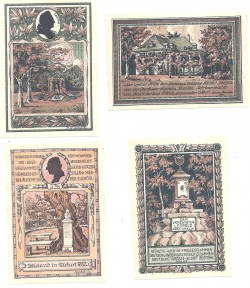 Tiefurt 25, 2 de 50 y 75 Pfennig (1-8-1.921) KL 1291 S/C-