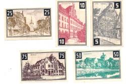 Wunstorf 5, 10, 25, 50 y 75 Pfennig (31-12-1.922) KL 1420b S/C-