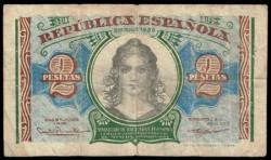 2 Pesetas 1938 República MBC-