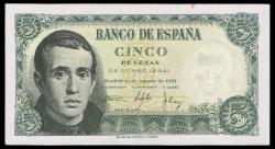 5 Ptas 1951 Jaime Balmes EBC