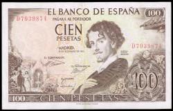 100 Pesetas 1965 Gustavo Adolfo Bécquer EBC-