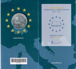 España 2017 Cartera Oficial 30 Euros Plata 25 Aniv. del Tratado de la UE S/C