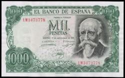 1000 Pesetas 1971 José Echegaray EBC