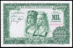 1000 Pesetas 1957 Reyes Católicos MBC+
