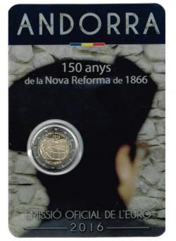 Andorra 2016 2 Euros.150 años de la Nova Reforma de 1866 S/C