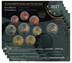 Alemania 2017 5 Official Sets UNC