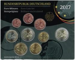Germany 2017 1 Official Euroset UNC