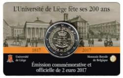 Bélgica 2017 2 Euros 200 Años de la Universidad de Lieja S/C