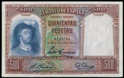 500 Pesetas 1931 Juan Sebastián Elcano EBC-