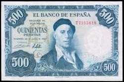 500 Pesetas 1954 Zuloaga EBC-