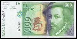 1000 Pesetas 1992 Hernán Cortés / Pizarro EBC- Sin Serie