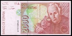 2000 Pesetas 1992 Celestino Mutis Pick 164. XF