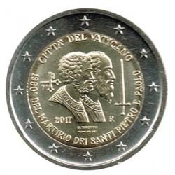 Vaticano 2017 2 Euros Martirio de S. Pedro y S. Pablo S/C