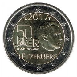 Luxemburgo 2017 2 Euros 50º Aniv. del Servicio Militar Voluntario S/C