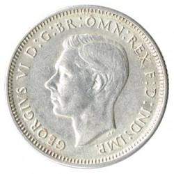 Australia 1943 1 Chelín Plata EBC