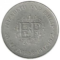 Gran Bretaña 1972 25 Nuevos Peniques (Bodas de Plata) S/C-