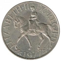 Gran Bretaña 1977 25 Nuevos Peniques (Jubileo de Plata) S/C-