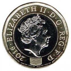 Gran Bretaña 2016 1 Libra (Bimetálica) S/C