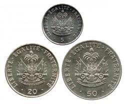 Haití 1991 - 1997 3 valores (5,20 y 50 Céntimos) S/C