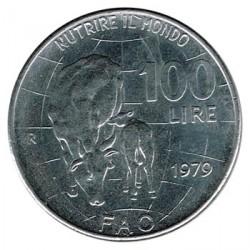 Italia 1976 100 Liras (FAO: Vaca y ternero) S/C