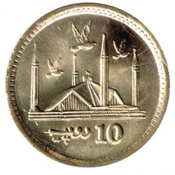 Pakistán 2016 10 Rupias (Mezquita Faisal) S/C