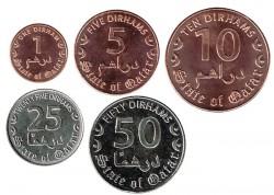 Qatar 2016 5 valores (1,5,10,25 y 50 Dirhems) S/C