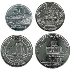 Paraguay 2007-2014 (50,100,500 & 1000 guaraníes) UNC