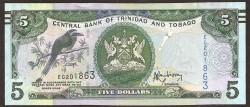 Trinidad y Tobago 5 Dólares PK Nuevo (47) (2.006) S/C