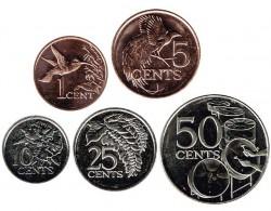 Trinidad y Tobago 2003 - 2014 5 valores (1,5,10,25 y 50 Cents.) S/C