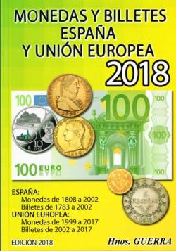 Hermanos Guerra Monedas y Billetes España y Unión Europea 2018