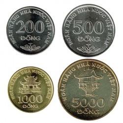 Vietnam 2003 4 valores (200,500,1.000 y 5.000 Dongs) S/C