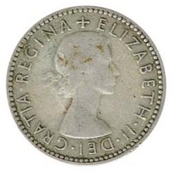 Australia 1954 6 Peniques Plata MBC+