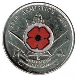 Canadá 2008 25 Centavos. Armisticio (Color) S/C