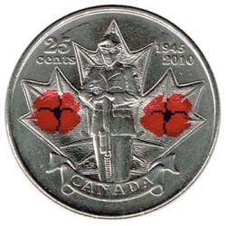 Canadá 2010 25 Centavos. Día del Recuerdo (Color) S/C