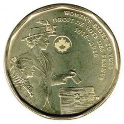 Canadá 2016 1 Dólar. Centenario del voto femenino S/C
