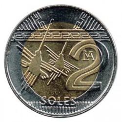 Perú 2016 2 Soles (Nuevo Modelo. Bimetálica) S/C