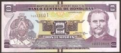 Honduras 2 Lempiras PK 97 (1-3-2.012) S/C