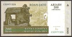 Madagascar 200 Ariary PK Nuevo (87c) (2004) S/C