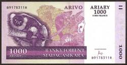 Madagascar 1.000 Ariary PK Nuevo (89c) (2.004) S/C