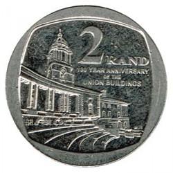 Sudáfrica 2013 2 Rand. Edificios de la Unión S/C